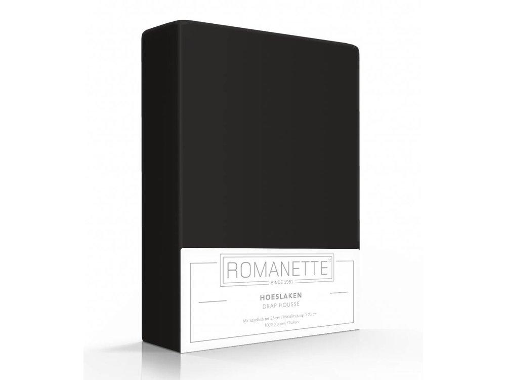 Romanette Hoeslaken - Katoen - Zwart