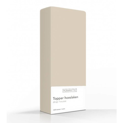 Romanette Hoeslaken - Topper - Katoen - Camel