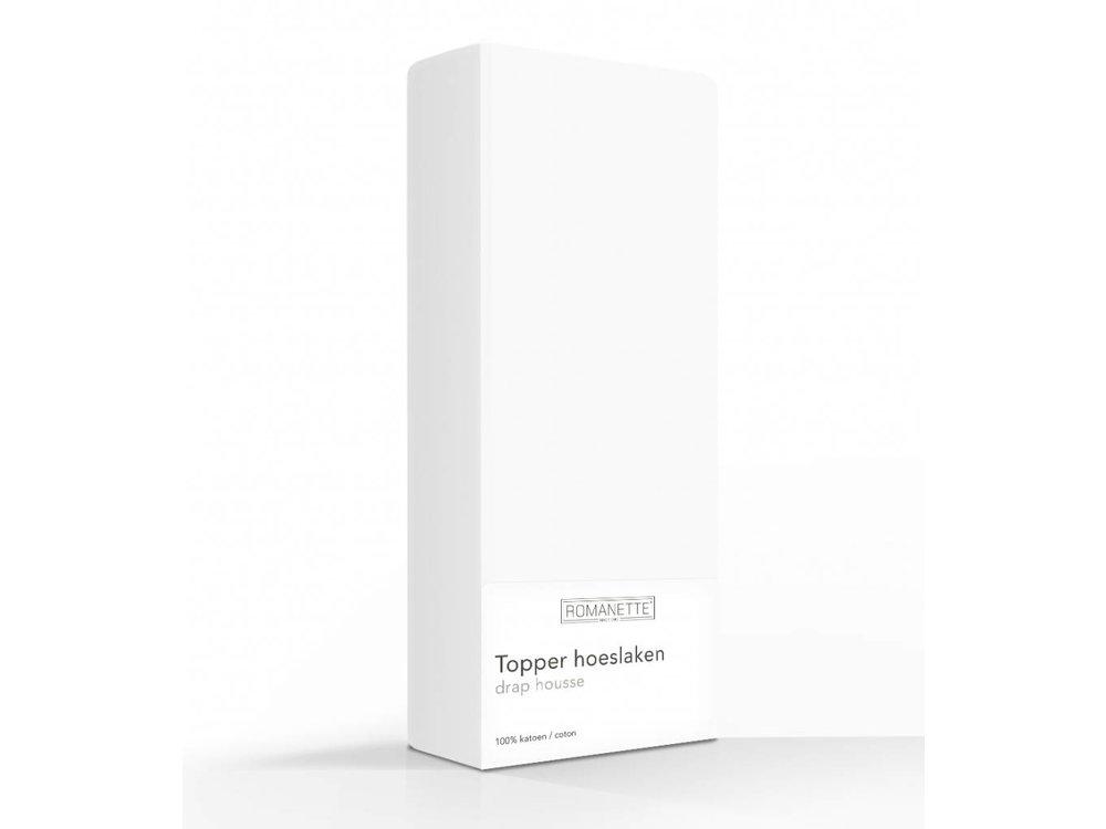 Romanette Hoeslaken - Topper - Katoen - Wit