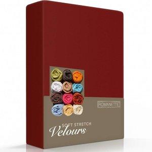 Romanette Hoeslaken Velours Bordeaux Rood