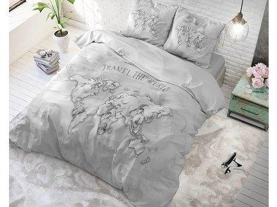 DreamHouse Dekbedovertrek Marble World Grijs