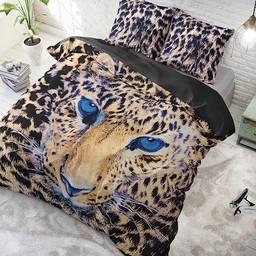 DreamHouse Dekbedovertrek - Cheetah - Taupe