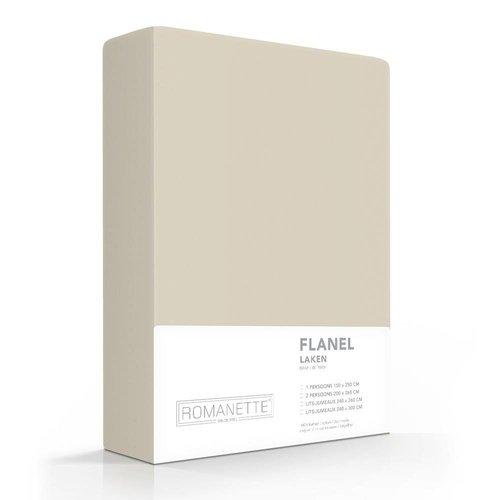 Romanette Laken - Zand - Flanel