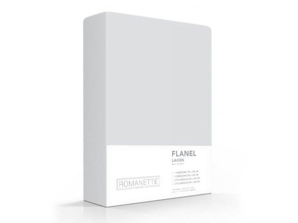 Romanette Laken - Zilver - Flanel