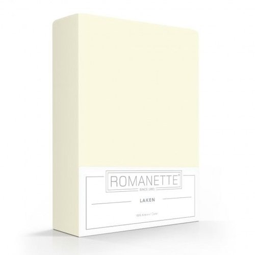 Romanette Laken Crème Ivoor Katoen
