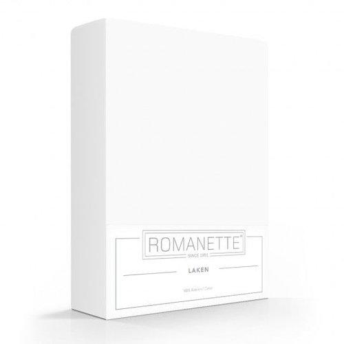 Romanette Laken - Wit - Katoen