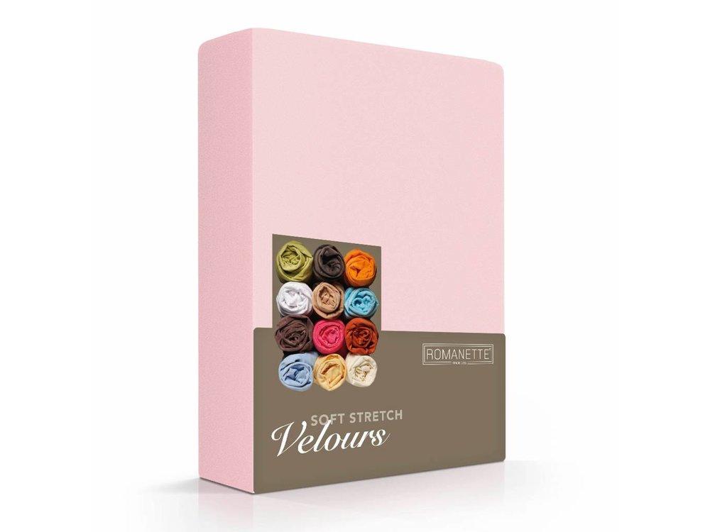 Romanette Hoeslaken - Velours - Blush Roze