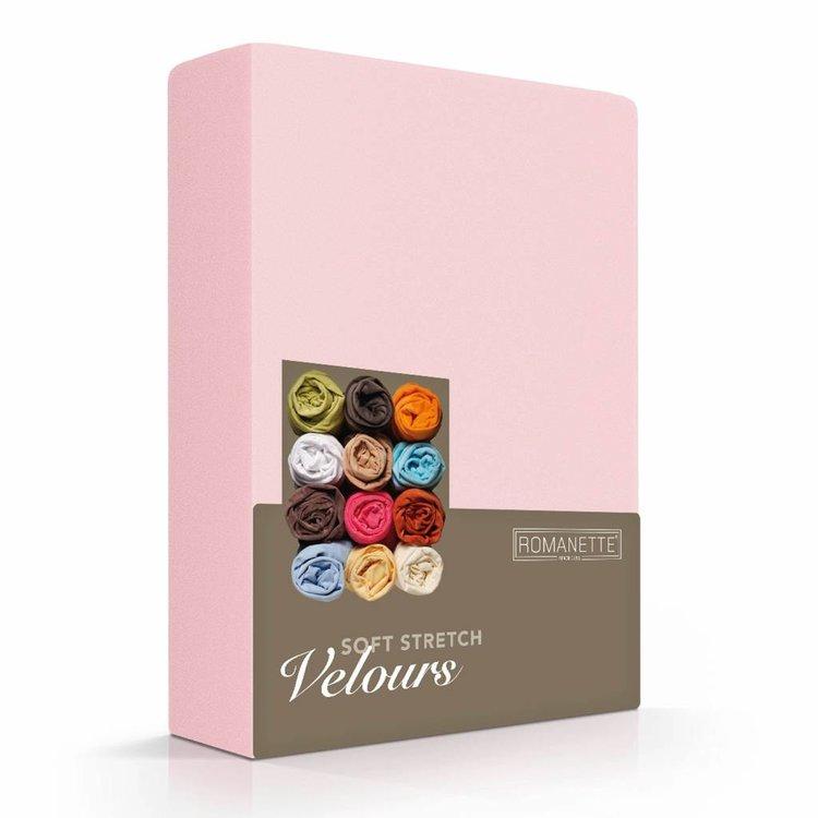 Romanette Hoeslaken Velours Blush Roze