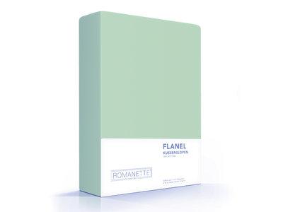 Romanette Kussenslopen - Flanel - Mintgroen - 2 Stuks
