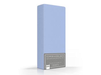 Romanette Topper Hoeslaken Dubbel Jersey Blauw
