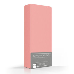 Romanette Topper Hoeslaken Dubbel Jersey Blossom Roze