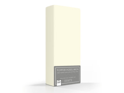 Romanette Topper Hoeslaken Dubbel Jersey Crème Ivoor