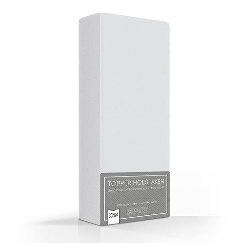 Romanette Hoeslaken - Topper - Dubbel Jersey - Zilver Grijs