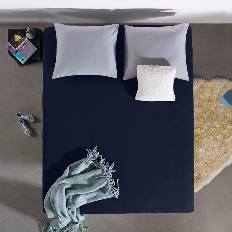 DreamHouse Hoeslaken Jersey Indigo Blauw