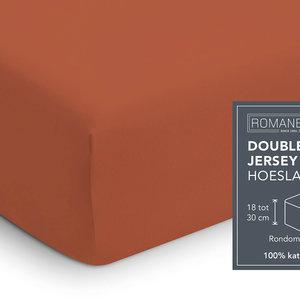 Romanette Hoeslaken Dubbel Jersey Terracotta