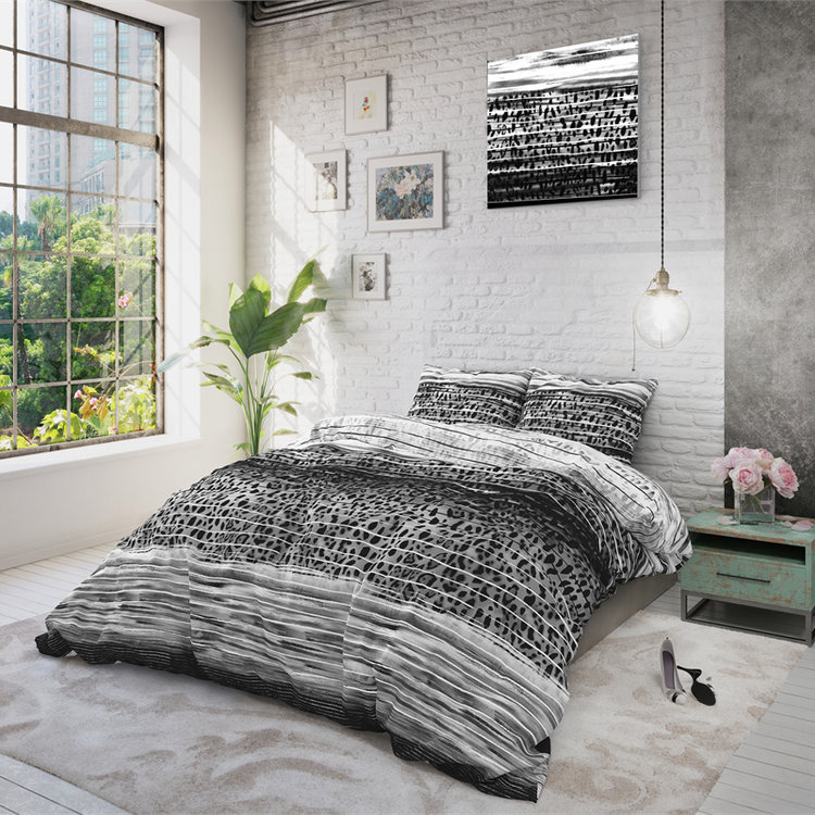Sleeptime Dekbedovertrek Panther Style Antraciet