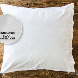Romanette Kussensloop Molton Waterdicht Wit