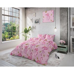 Sleeptime Dekbedovertrek Tropical Flamingo Roze