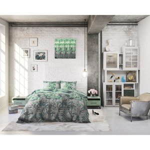 Sleeptime Dekbedovertrek Bendos Grijs Groen