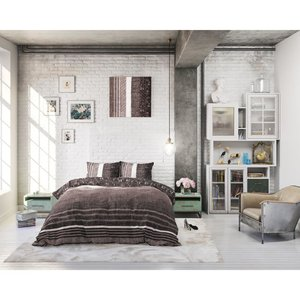 DreamHouse Dekbedovertrek Matrix Taupe