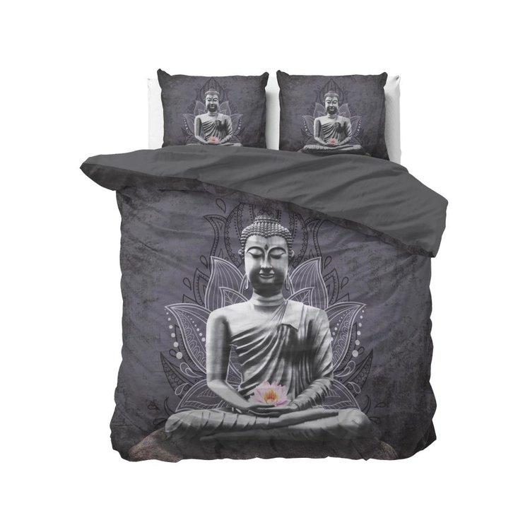 DreamHouse Dekbedovertrek Buddha Flower Antraciet