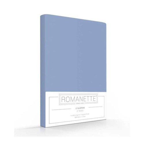Romanette Kussenslopen Blauw Katoen - 2 stuks