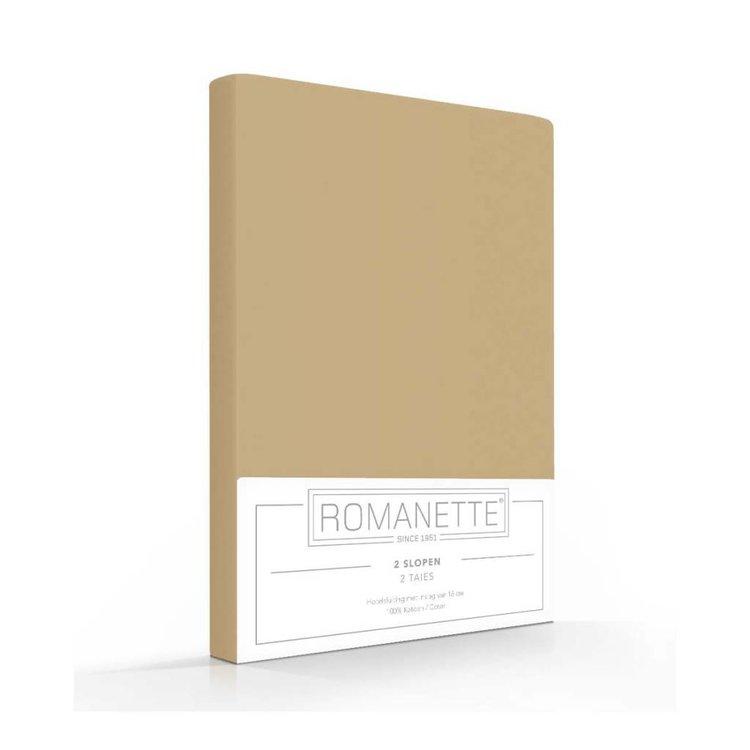Romanette Kussenslopen Katoen Camel - 2 stuks