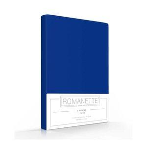 Romanette Kussenslopen Katoen Kobalt Blauw - 2 stuks