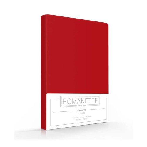 Romanette Kussenslopen - Katoen - Rood - 2 stuks