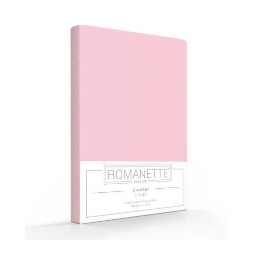 Romanette Kussenslopen - Katoen - Roze - 2 stuks