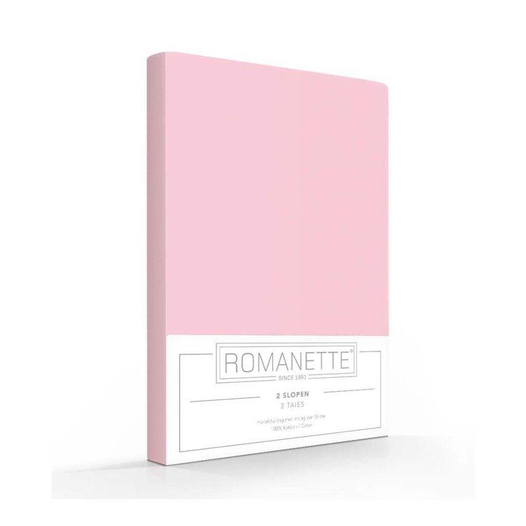 Romanette Kussenslopen Katoen Roze - 2 stuks