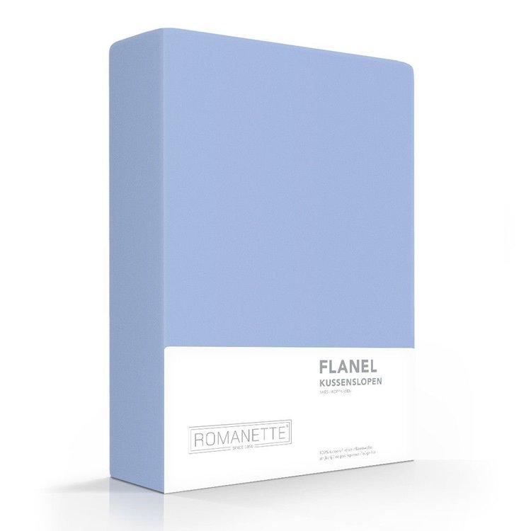 Romanette Kussenslopen Flanel Blauw - 2 stuks