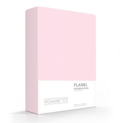 Romanette Kussenslopen - Flanel - Roze - 2 stuks