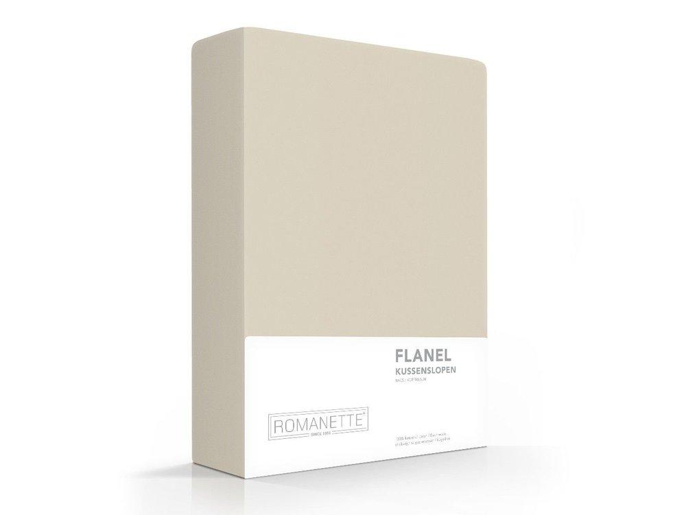 Romanette Kussenslopen - Flanel - Zand - 2 stuks