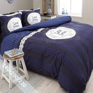 DreamHouse Dekbedovertrek Love of Dream Marineblauw