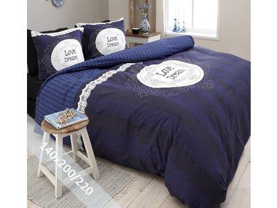 DreamHouse Dekbedovertrek - Love of Dream - Navy - 140x200-220 cm