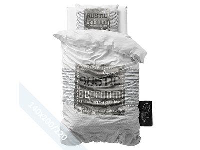 Sleeptime Dekbedovertrek - Rustic - Grijs - 140x220 cm