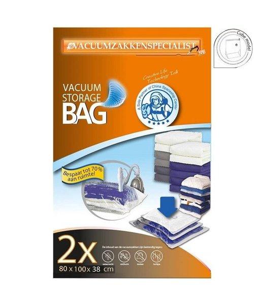 Pro Vacuumzakken Cube Model 80X100X38 cm [Set 2 Zakken] (Geschikt voor Pro Vacuumpomp)