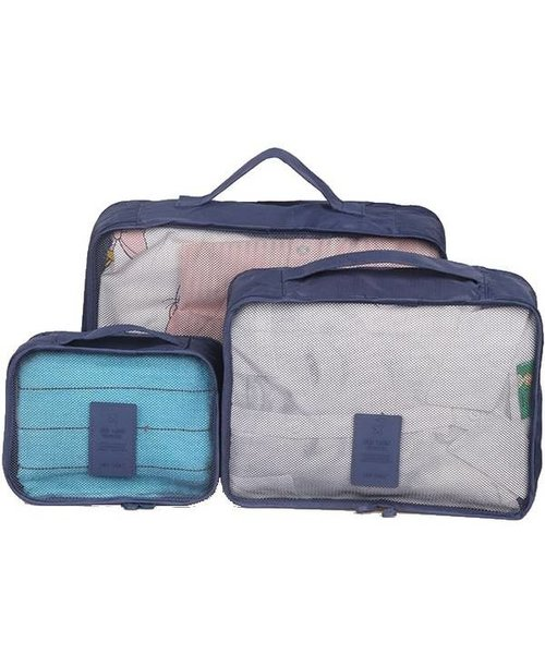 Reisorganizer Voor In Je Tas Of Koffer Set 6 Opbergzakjes