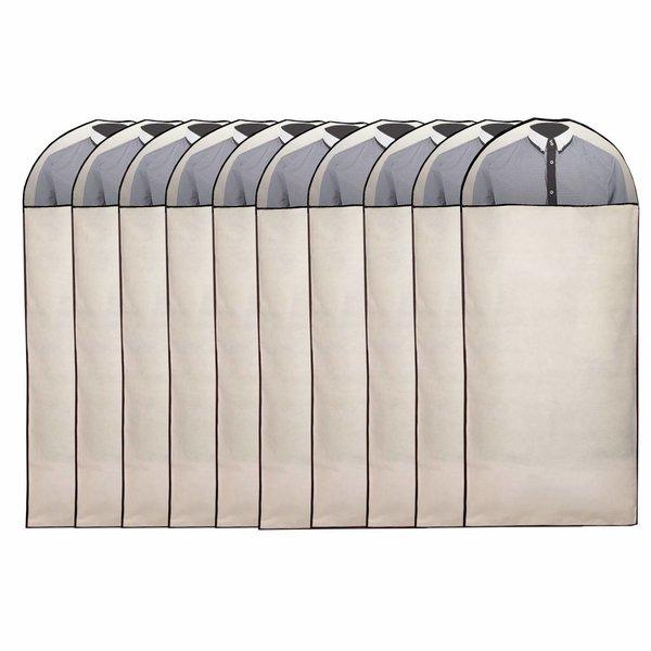 Pro Stevige Witte Kledinghoes Met Venster [135X60 cm] Set 10 hoezen