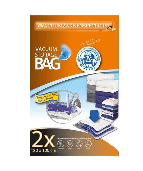 Pro Vacuumzakken 130X100 cm [Set 2 Zakken] (ook geschikt voor Pro Vacuumpomp)