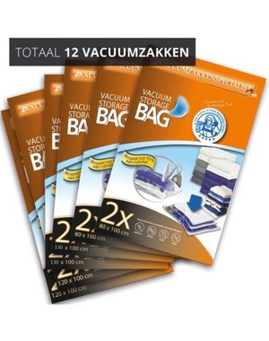 Pro Pakket Vacuumzakken [Set 12 Vacuumzakken] Home Large