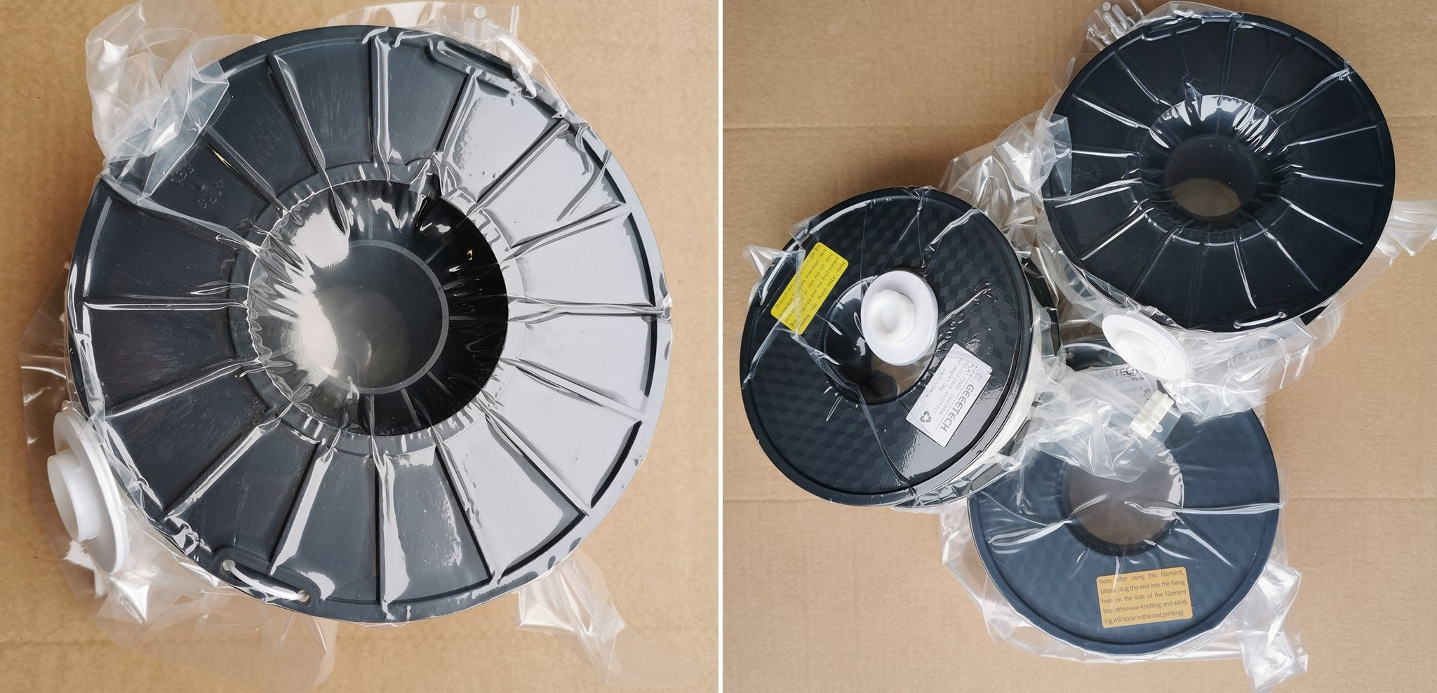 Filament vacuum verpakken