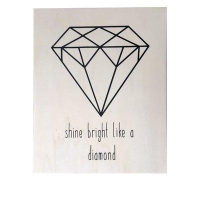 Houten Poster Diamond