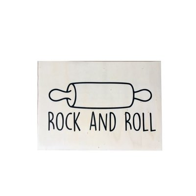 Houten Poster Rock and Roll