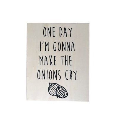 Pretty Special Houten Poster Onions