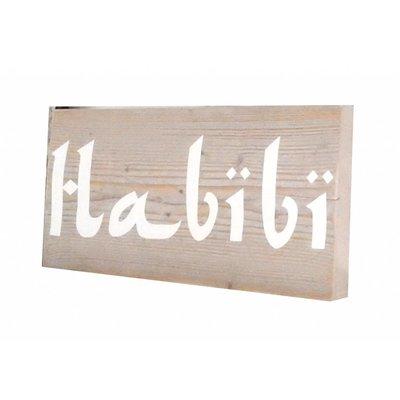 Bordje steigerhout Habibi