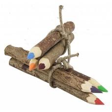 Kleurpotloden van boomschors