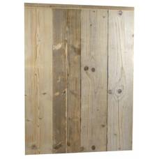 Lambrisering van steigerhout