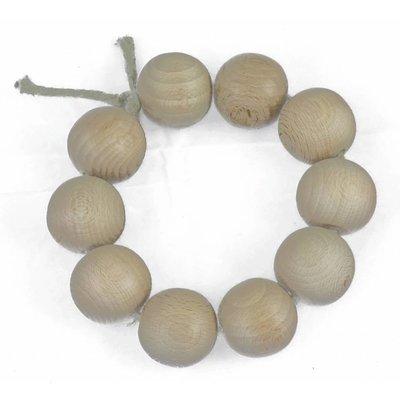 Onderzetter van houten kralen - diameter 15 cm